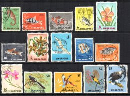 Singapore - 1962/66 - Flora & Fauna Definitives (Upright Watermark, Part Set) - Used - Singapour (1959-...)