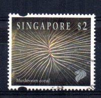 Singapore - 1994 - $2 Mushroom Coral - Used - Singapour (1959-...)