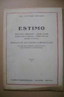 PCL/37 Stuani ESTIMO Rurale-matematica Finanziaria Signorelli 1946 - Matematica E Fisica