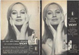 1964  - Prodotti Di Bellezza VICHY  -  2  P.  Pubblicità Cm. 13,5 X 18,5 - Altri