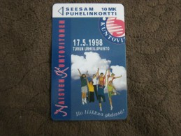 Magnetic phonecard,Naisten Kuntovitnen,used
