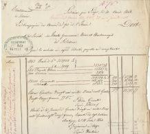 1860 Courrier Train Compagnie Chemin De Fer D'italie à Hauts Fourneaux Usines Charbonnages De Sclessin - Documents Historiques