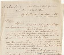 1864 Courrier Train Compagnie Chemin De Fer PLM Valais Blondiaux à Thy Le Chateau Rail Eclisse - Documents Historiques