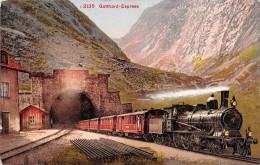 "0792 ""2135 GOTTHARD ESPRESS"" TRENO.  CART. POSTALE.  SPEDITA 1911 - Treni"
