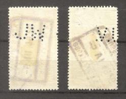 België/ Belgique Spoorwegzegels SP/TR/CF Perfin 2 Zegels/timbres.Zie/voir 2 Scans - Perfins