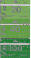 Nederland PTT Telecom : Kaart Verbruikt : Afvalbak  5 - 10 - 25 Gulden - Nederland