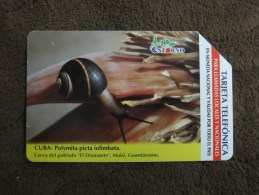 Urmet Phonecard, Snail,used - Cuba