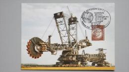Deutschland Bund 854 Yt 703 Maximumkarte MK/MC, SST Bergbauausstellung 22.5.1982, Braunkohlenförderbagger - BRD