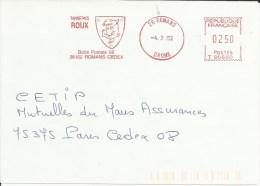 Lettre  EMA Havas T Tanneries  ROUX  Poissons Animaux Cuir Metiers Themes 26 Romans A 44/17 - Fische