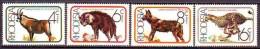 RHODESIA  -  CATS - WILD DOG - HYENA - ANTILOPE  - MNH** - 1976 - Dogs