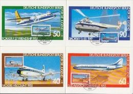 Berlin 1980 Airplanes/Für Die Jugend 4v 4 Maximum Cards (19120) - [5] Berlijn