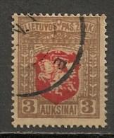Timbres - Lituanie - 1919- 3 A. -