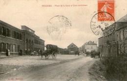 FEIGNIES - Place De La Gare Et Gare Extérieure - Feignies