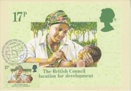 Great Britain 1984 The British Council Education For Development 1v Maximum Card (19123) - Maximumkaarten