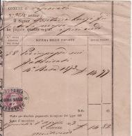 RICEVUTA DEL 1893 COMUNE DI VESCOVATO CREMONA PER IMPEGNI SUI FABBRICATI CON MARCA - TIMBRO OVALE ESATTORIA VESCOVADO - - Italia