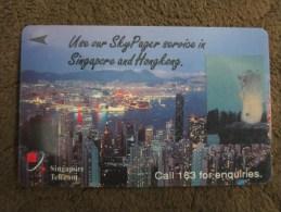 GPT Phonecard,2SSPB Skypager Hongkong Skyline,used - Singapour