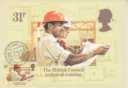 Great Britain 1984 The British Council Technical Training 1v Maximum Card (19124) - Maximumkaarten