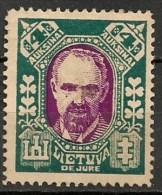 Timbres - Lituanie - 1923- 4 A. - - Lituanie
