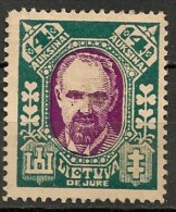 Timbres - Lituanie - 1923- 4 A. -