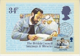 Great Britain 1984 The British Council Language & Libraries  1v Maximum Card (19125) - Maximumkaarten