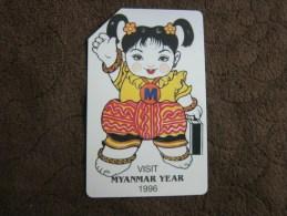 Urmet Phonecard,visit Myanmar Year 1996,used - Myanmar