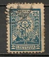 Timbres - Lituanie - 1923- 25 C. - - Lituanie
