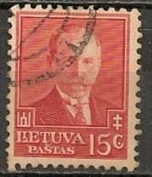 Timbres - Lituanie - 1933 - 15 C. -