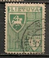 Timbres - Lituanie - 1934 - 5 C. - - Lituanie
