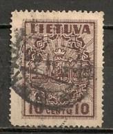 Timbres - Lituanie - 1934 - 10 C. -