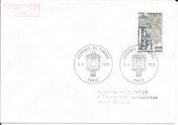 TIMBRE N° 2004 - 1ER JOUR   - 1978   -   JOURNEE DU TIMBRE  -  PARIS - TARIF 2.8.76 - SEUL SUR LETTRE - Marcophilie (Lettres)