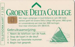 Nederland Telefoonkaart Groene Delta College 2½  Gulden - Pays-Bas