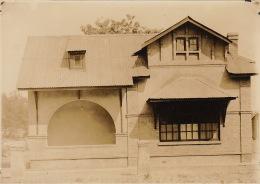 Grande Photo Ancienne Afrique Congo CSK Maison Type III Pour Agent 1924 - Autres Collections