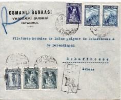 TURQUIE LETTRE RECOMMANDEE POUR LA SUISSE 1930 - 1921-... Republic