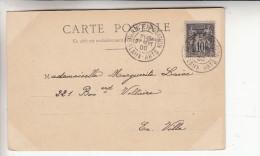 """Type Sage 10cts Oblitere """"paris Exposition Beaux Arts"""" Le 23 Septembre 1900 - Postmark Collection (Covers)"""
