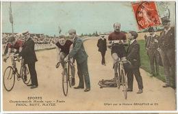 Championnats Monde Piste 1907 Emile Friol Né A Tain L' Hermitage Walter Rutt Né A Morsbach  Mayer Stade Velodrome - Cyclisme