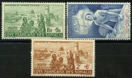 Côte Des Somalis (1942) PA N 8 à 10 * (charniere) - Unused Stamps