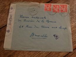 Enveloppe Envoyée En Belgique Datée Du/07/1941-Ouverte Et Contrôlée Par La WERMACCH-griffe 31 - 1939-44 Iris