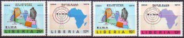 LIBERIA - RADIO  ELWA - MAPS  - **MNH - 1974 - Télécom