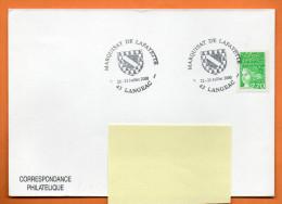 43 LANGEAC  MARQUISAT DE LAFAYETTE    2000  Lettre Entière N°  H 360 - Cachets Commémoratifs