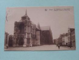 St. Sulpitluskerk En Groote Markt / St. Sulpice ( E. Uten-Uytterhoeven ) Anno 1929 ( Zie Foto Details ) !! - Diest