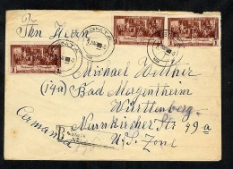 Romania 1952 Registered Cover To Germany (W108) - Covers & Documents