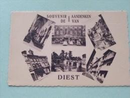 Aandenken / Souvenir Van DIEST ( Café CASINO : Tél 255 ) Anno 19?? ( Zie Foto Details ) !! - Diest
