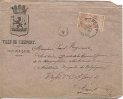 TP 57 Léopold II Finr Barbe S/L.de La Ville De Nieuport En 1898 V.Gand PR1570 - 1893-1900 Barba Corta