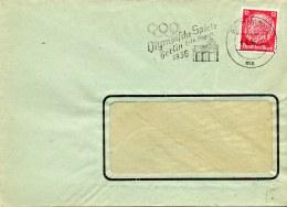 Brief 1936 Hindenburg 12 Pf. Letter  Olympische Spiele  DR Germany - Alemania