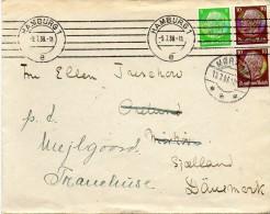 Brief 1938 Hindenburg 3+10+10 Pf.  Cover Letter Olympische Spiele  DR Germany - Deutschland