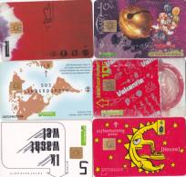 Nederland 6 Verschillende Telefoonkaarten 5-10-25 Gulden W.o S.O.S. Kinderdorpen - Nederland