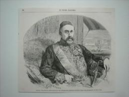 GRAVURE 1858. SON EXC. FUAD-PACHA, AMBASSADEUR DE S. M. LE SULTAN AUX CONFERENCES DE PARIS. - Prints & Engravings