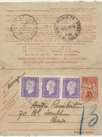 PNEUMATIQUE + COMP AFFR DULAC . LIBERATION - Marcophilie (Lettres)