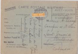 CARTE POSTALE MILITAIRE  POUR MADAME LESAGE Carrefour St Clair St Germain De Tallevende - Weltkrieg 1939-45