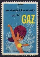 Vignette Cinderella Eau Chaude à Bon Marché Par Le Gaz - Vignettes De Fantaisie